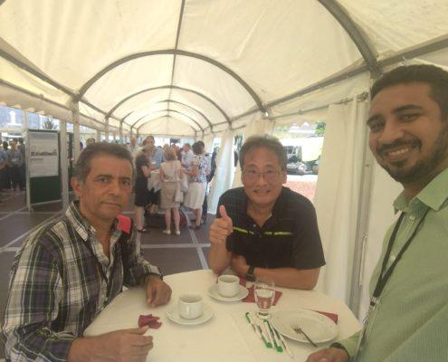 Na foto: Prof. Odilon e os professores Limin Kung Jr., da University of Delaware (USA) e Thiago Carvalho, da UFRA